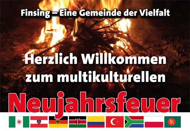 Multi Kultur beim Neujahrsfeuer
