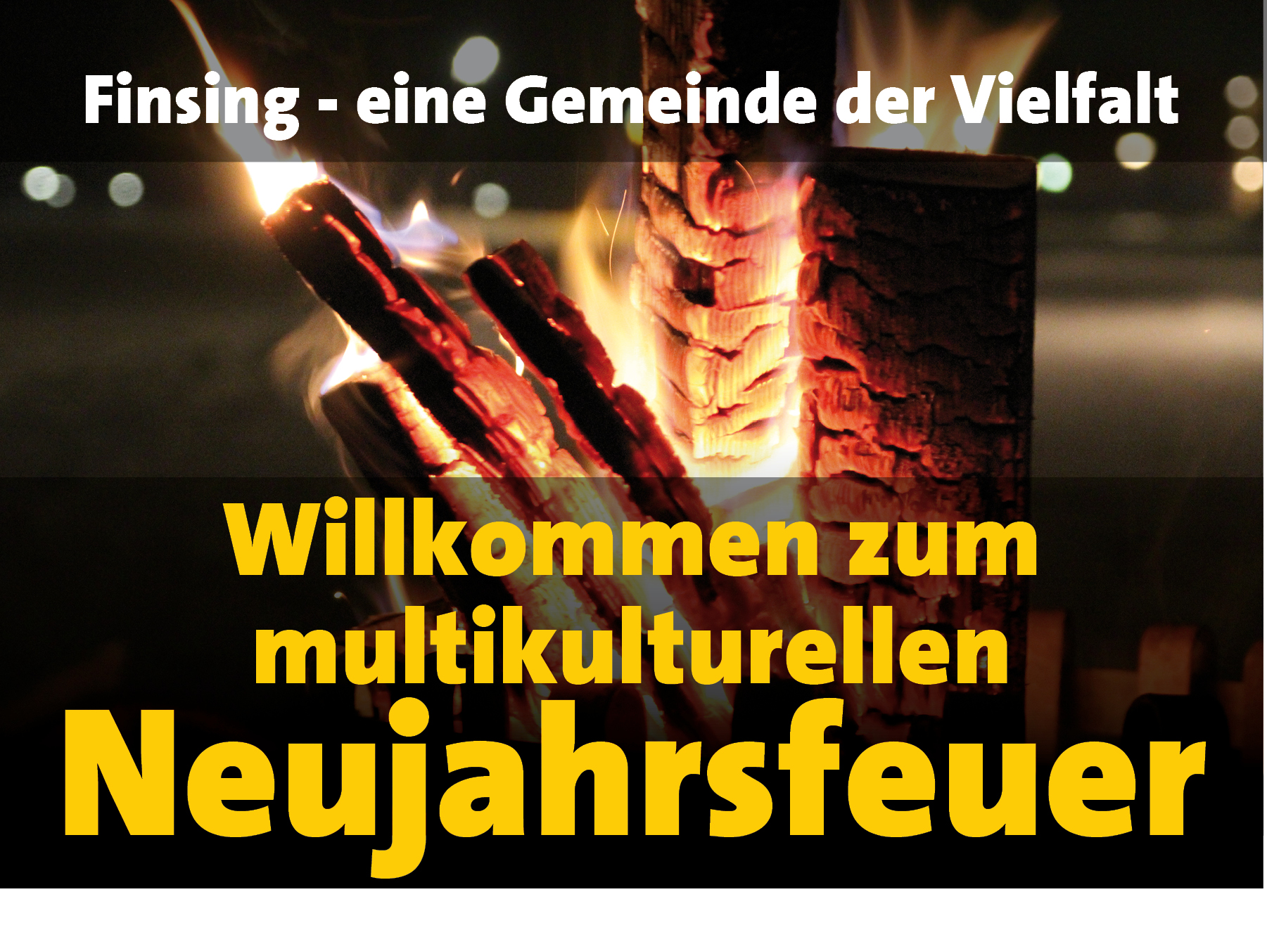 """Multikulturelles Neujahrsfeuer """"Finsing – eine Gemeinde der Vielfalt"""""""