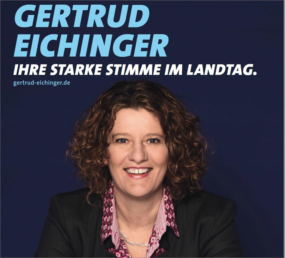 """SPD Stammtisch 11.6 in Eicherloh: """"Eine Finsingerin im Landtag, wie cool ist dass denn - Vorstellung der SPD Landtagskandidatin Gertrud Eichinger"""""""