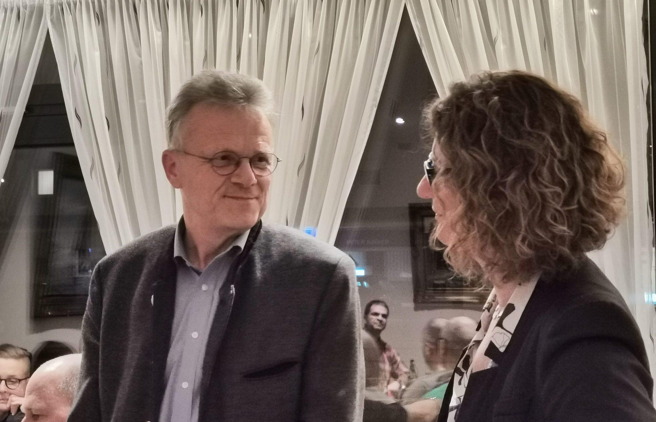 Landratskandidat Hans Schreiner und Gertrud Eichinger