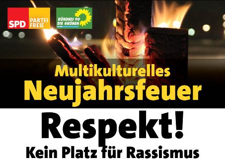 Multikulturelles Neujahrsfeuer