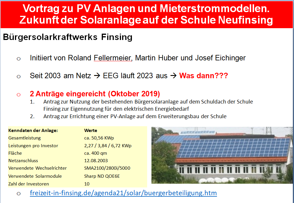 Mehr zu Vortrag zu Photovoltaik am 30.1.2020 beim Faltermeier